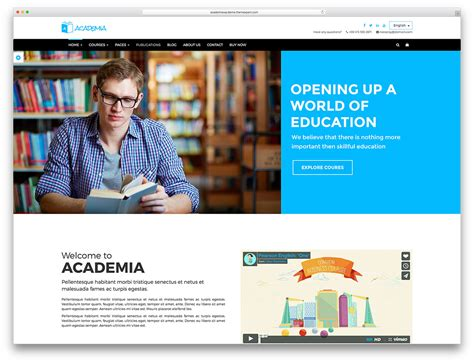 Informational Website Templates by 46 Awesome Responsive Education Themes 2018