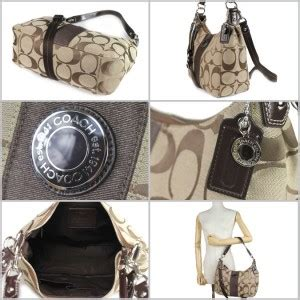 Coach Mini Signature Mahogany Nwt Tas Coach Original nwt coach brown mahogany signature stripe convertable shoulder hobo bag handbag ebay