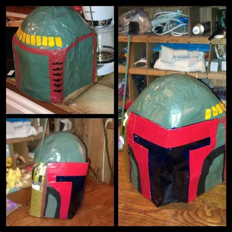 How To Make A Paper Mache Helmet - paper mache boba fett helmet make up