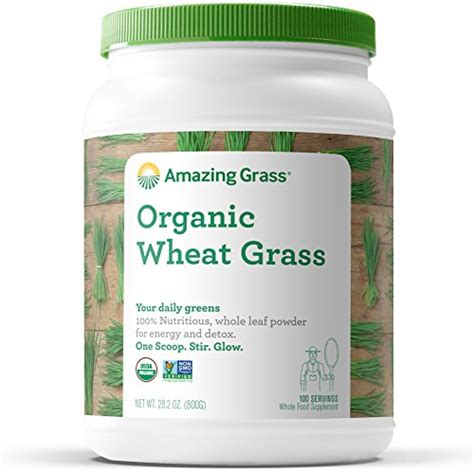 Wheatgrass Powder Detox by Amazing Grass Organic Wheat Grass Powder 100 Servings 28