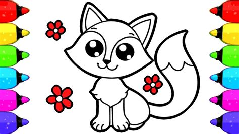 fox coloring book fox coloring book pages for how to draw and color