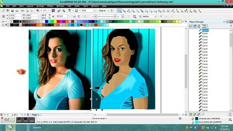 corel draw x6 español corel draw x6 vector portrait of anne hathaway corel