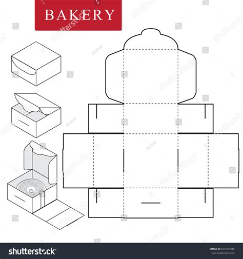 package template package for bakery vector illustration of box package