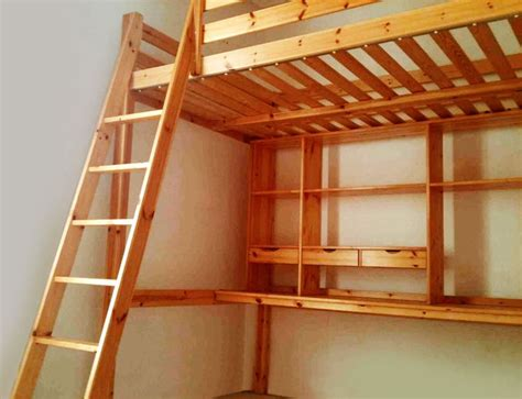 loft bed with desk ikea ikea stora pine loft bed with mattress desk and