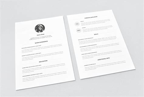 30 Best Free Resume Templates In Psd Ai Word Docx Free Minimalist Resume Template Word