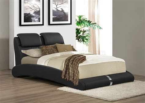 black upholstered bed b150 upholstered bed in black leatherette