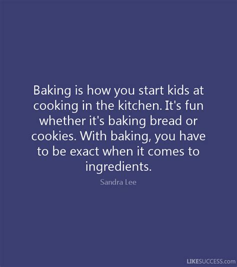How To Be A Success In The Kitchen by Baking Is How You Start At Cooking By