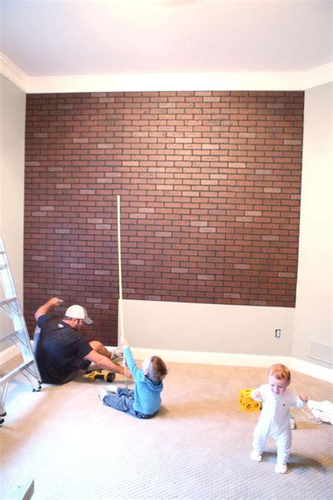 painting faux brick paneling she s a brick house faux brick walls faux brick and