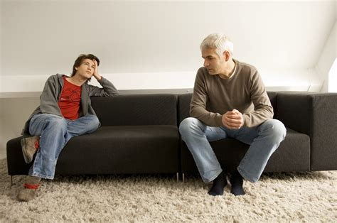 on sofa behaviour dads who yell more aggressive teenagers chicago tribune