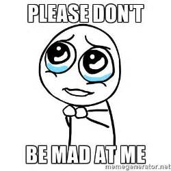 Dont Be Mad At Me Meme - please don t be mad at me pleaseguy meme generator