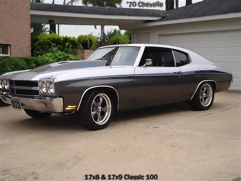 Wheels 70 Chevy Chevelle N2017 105 black with machined lip rev wheels a revolution