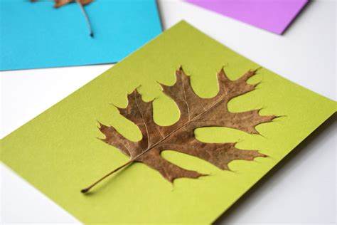 fall cards to make diy fall leaf cards