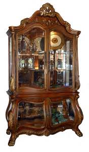 Curio Cabinets For Sale On Ebay Rococo Lighted Bombe Curio Cabinet Ebay