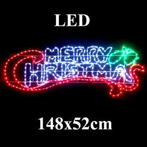 merry christmas light signs animated large led 148cm wide merry sign motif rope lights ebay
