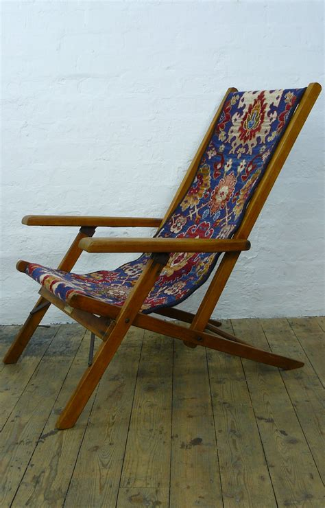 vintage geebro ocean chair wooden folding deck chair