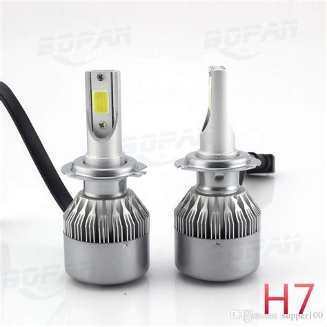 lade auto h7 car headlight led light h7 led 6000k cob c6 for universal