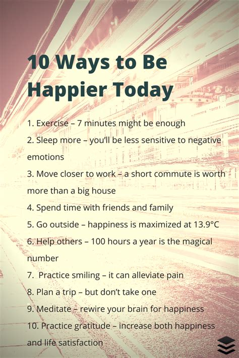9 Ways To Get Through Days by 10 Simple Things You Can Do Today That Will Make You Happy