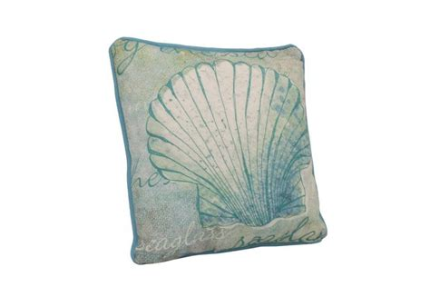 Seashell Pillow by Buy Light Blue And White Seashell Decorative Throw Pillow