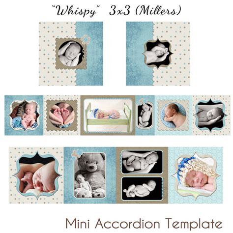mick luvin photography millers mini accordion templates