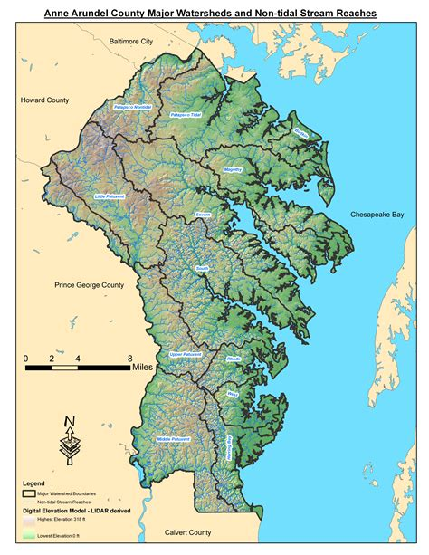 Arundel County Property Records Arundel County Watershed Map Images