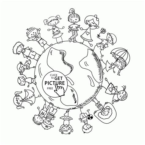 Coloring Pages For Childrens Day by Happy On Earth Day Coloring Page For Coloring