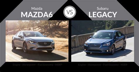 2016 mazda mazda6 vs subaru legacy