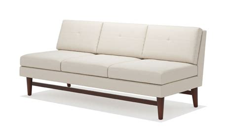 armless couches diggity armless sofa truemodern