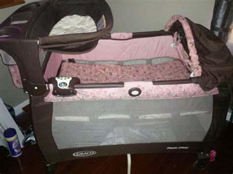 Pink And Brown Graco Pack N Play With Changing Table Graco Pack N Play For Sale