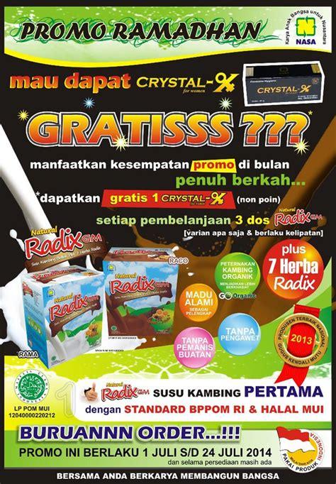 Radix Gm Rasa Maducoklat Nasa promo ramadhan sehat nasa x gratis