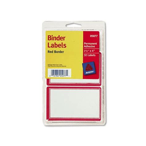 Self Adhesive Labels avery border self adhesive labels for binder cover spine ave5077 shoplet