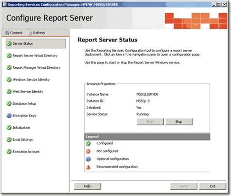 Configure L Server by Reporting Services 2008 Vista Todayartpo