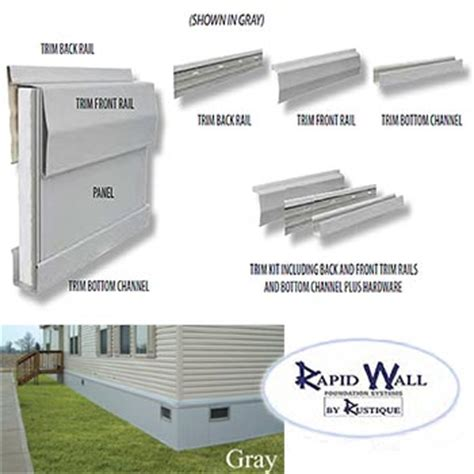 28x60 rapid wall mobile home insulated skirting package