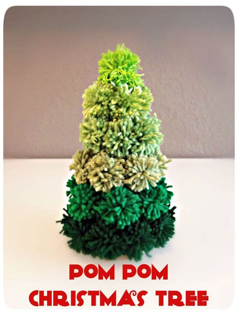 pom pom christmas tree other stuff pinterest