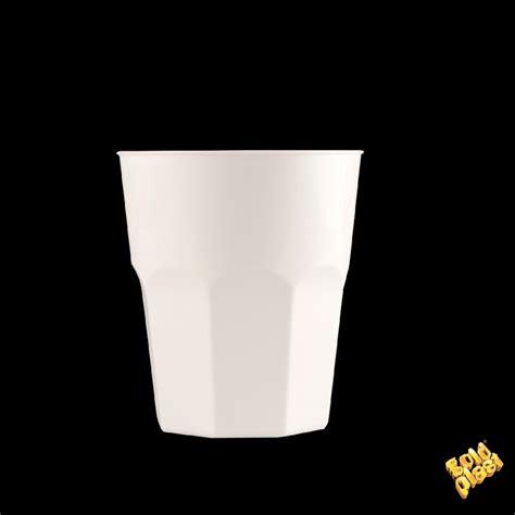 bicchieri bianco bicchiere bianco 20pz cc270 gold plast 4075 11