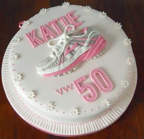 50th running shoe birthday cake