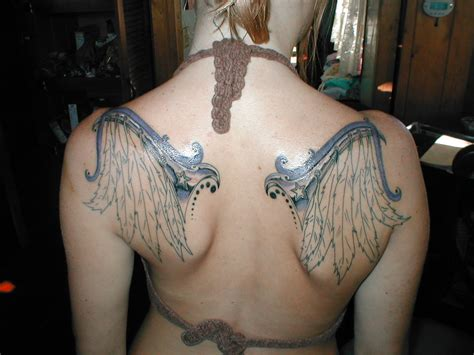 colored wings tattoo 35 absolutely cool and powerful wings design