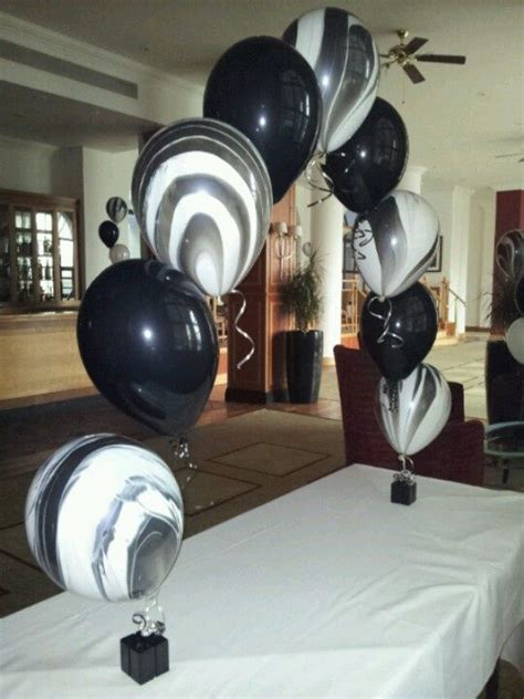 red black and white balloon arch   Black & White themed