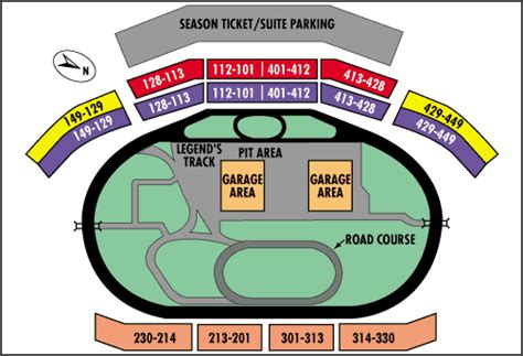 texas motor speedway seating map track facts pg 3