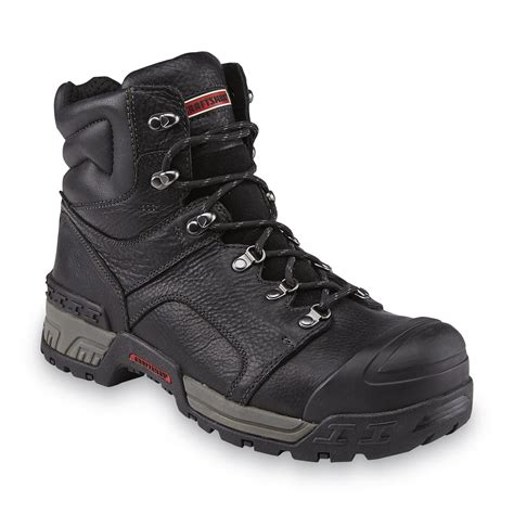 sears steel toe work boots craftsman s 6 quot steel toe work boot black clothing