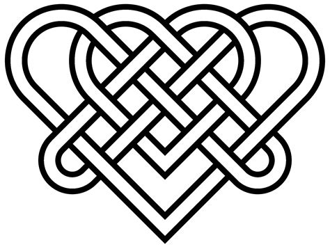 celtic pattern png heart celtic knot transparent png stickpng