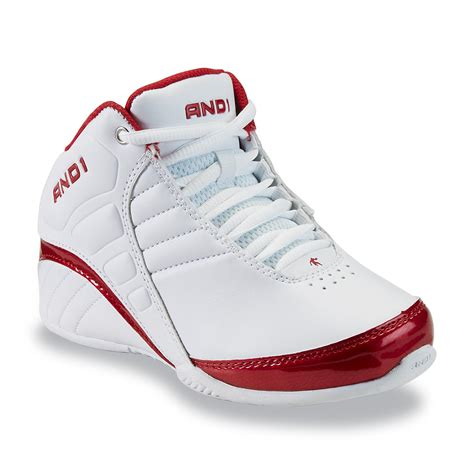 and 1 basketball shoes and 1 boy s rocket white high top basketball shoe