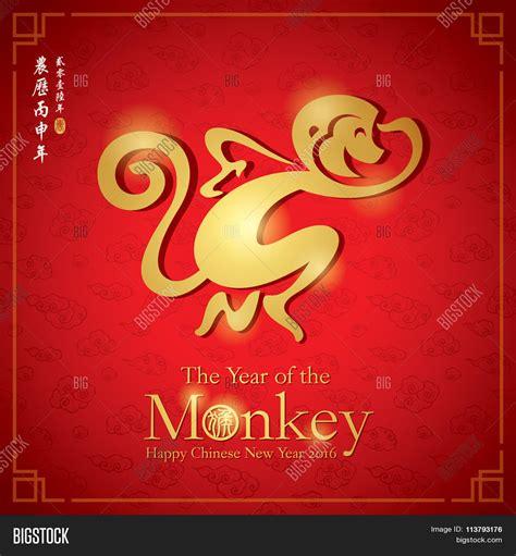 new year monkey birth years zodiac monkey vector photo bigstock