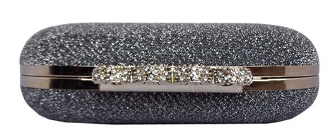 Metal Ring Clutch chicastic glitter metallic duster four ring knuckle clutch