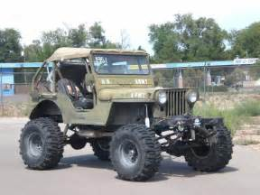 lifted jeep 1951 willy s jeep m38 cj2 rock climber v 8