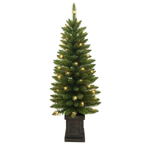 home depot small christmas trees home accents 4 ft pre lit douglas artificial porch tree with 50 clear lights