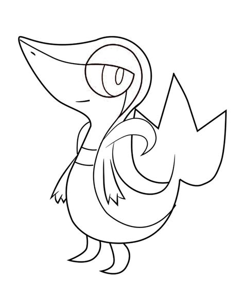 Snivy Pokemon Coloring Page | free coloring pages of pokemon tepig and snivy