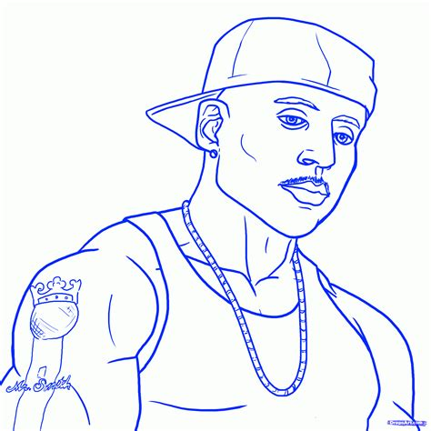 Ll Cool J Coloring Page by How To Draw Ll Cool J Ll Cool J Step By Step Pop