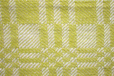 pale yellow pattern fabric yellow and white woven fabric texture with squares pattern