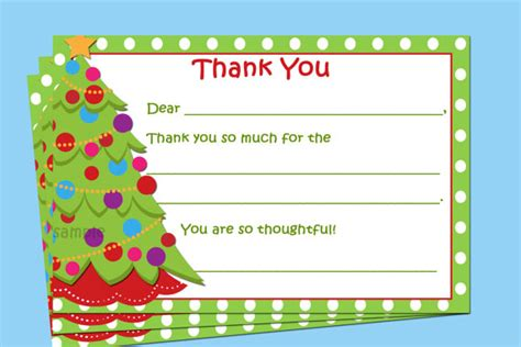 printable christmas present thank you cards free printableholiday thank you cards new calendar