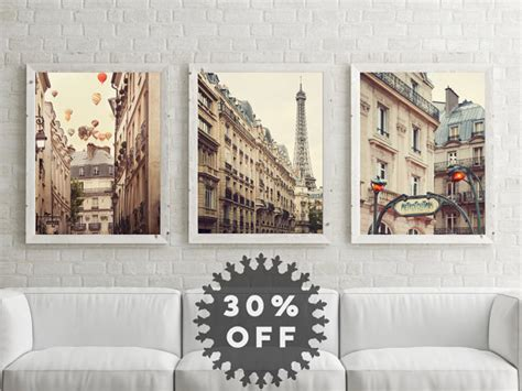 photography wall art home decor sale paris prints set paris photography neutral wall art